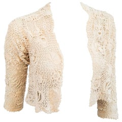Edwardian Irish Lace Handmade Bolero
