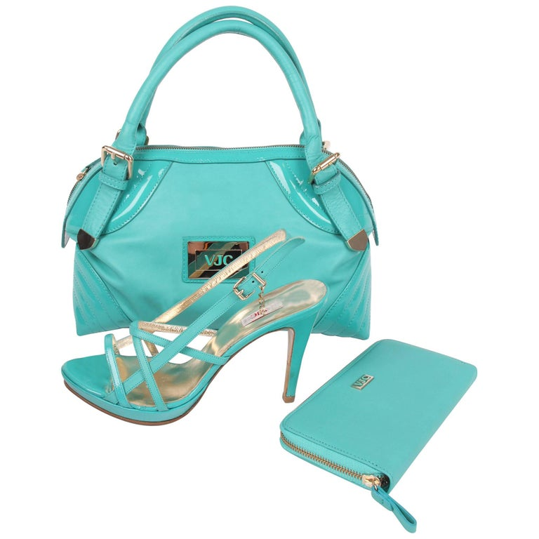 Versace Jeans Couture Top Handle Bag with Zip Around Wallet and Sandalette Shoes