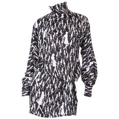 Versace Jeans Couture VJC black and white Silk Dress