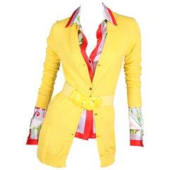 Versace yellow Cashmere Cardigan