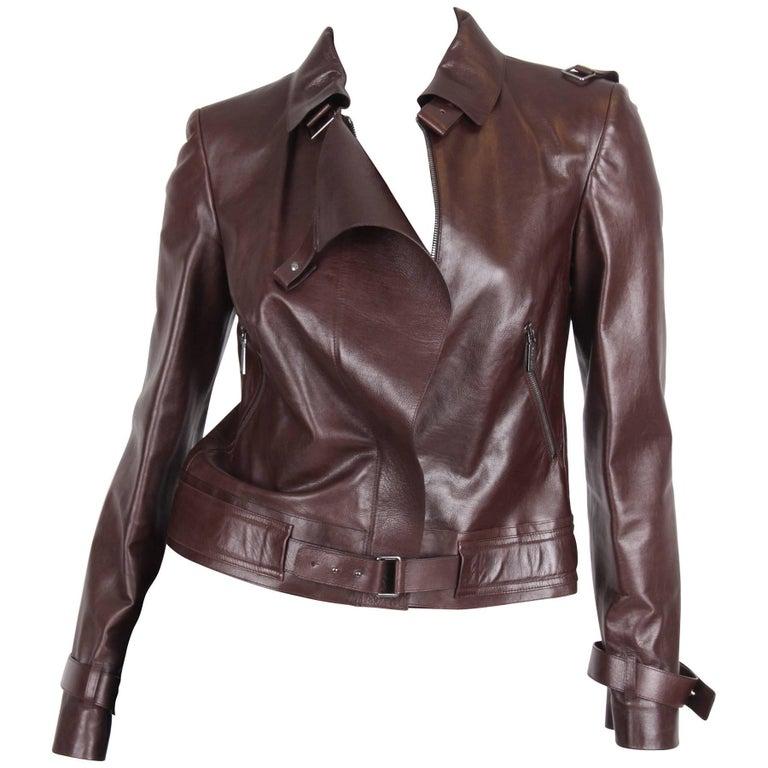 Versace Leather Jacket - dark brown