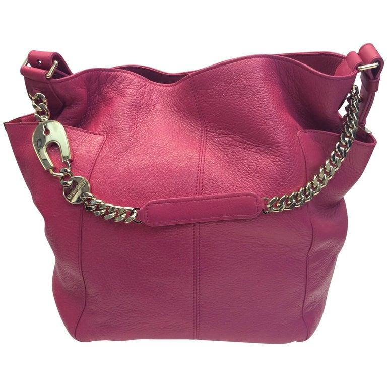 Jimmy Choo Fuchsia Leather Handbag