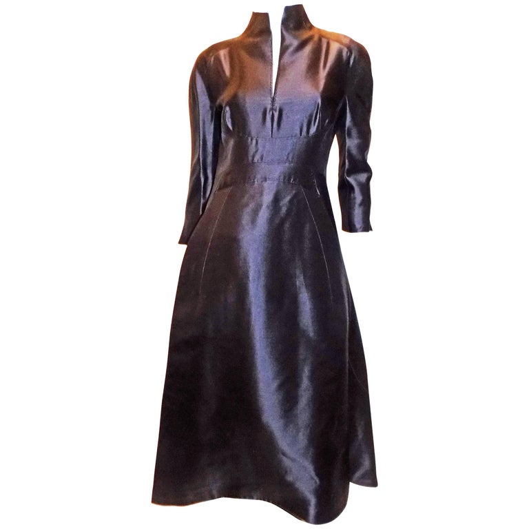 Ralp Rucci  Chado Black Silk Long sleeve evening Gown