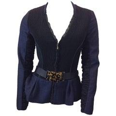 Fendi Navy Blue and Black Jacket