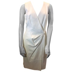 Oscar de la Renta White Leather Dress NWT