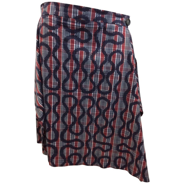 Vivienne Westwood Red and Blue Print Skirt