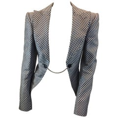 Junya Watanabe Black and White Checkered Blazer