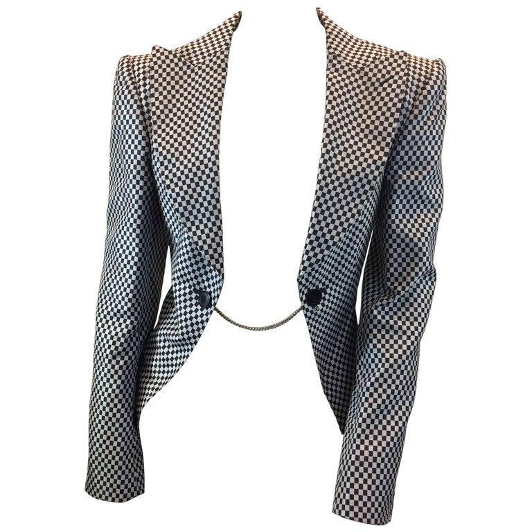Junya Watanabe Black and White Checkered Blazer