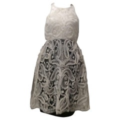 Fendi White And Black Dress With Nylon Ribbon Embellishment Sz42 (Us 4)