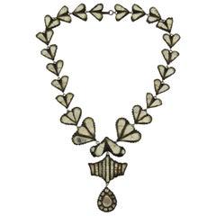 Documented High End Line Vautrin Talosel Necklace Renaissance Design Influence