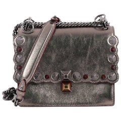 Fendi Kan I Handbag Studded Leather Small