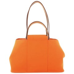 Hermes Cabag Elan Toile and Leather 39