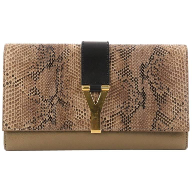 1stdibs Renaud Pelligrino Leather clam Clutch
