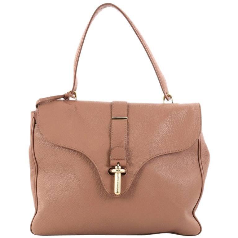Balenciaga Tube Square Handbag Leather Small