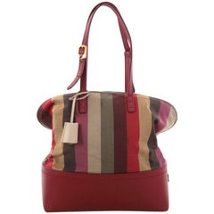 Fendi Pequin 2Bag Canvas and Leather