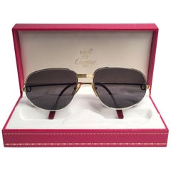 Cartier Vintage Romance Vendome 61mm Platinum France Sunglasses