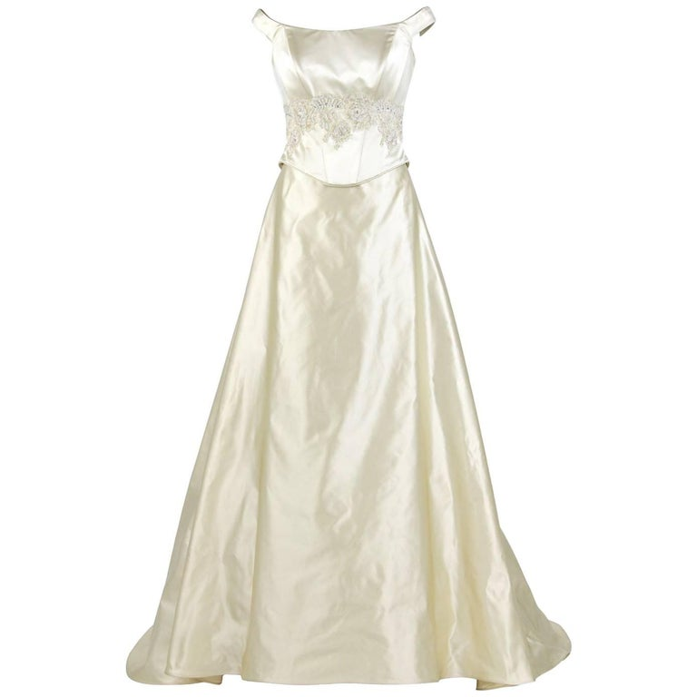 Aimée Ivory White Vintage Two-piece Wedding Dress, 2000s