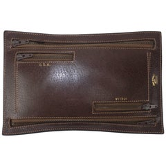 Vintage Gucci Brown Leather Travel Wallet Pouch