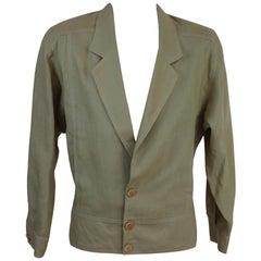 Mila Schon Saharan Beige Linen Italian Jacket, 1980s
