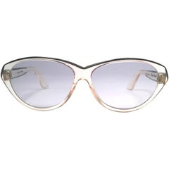 New Rare Vintage Pierre Marly Doly Clear Oversized 1960's Sunglasses