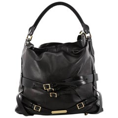 Burberry Bridle Gosford Hobo Leather Medium