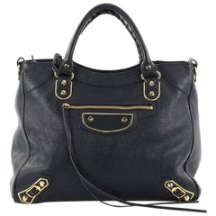 Balenciaga Velo Classic Metallic Edge Handbag Leather