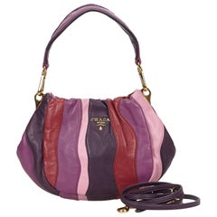 Prada Colour Blocked Gathered Leather Hand/Shoulder Bag