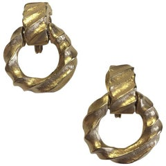 GIVENCHY Clip-on Earrings in Matte Gilded Metal