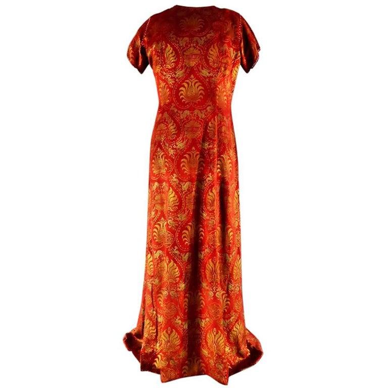 Haute Couture evening dress -attributed to- Maria Monacci Gallenga Circa 1930 For Sale