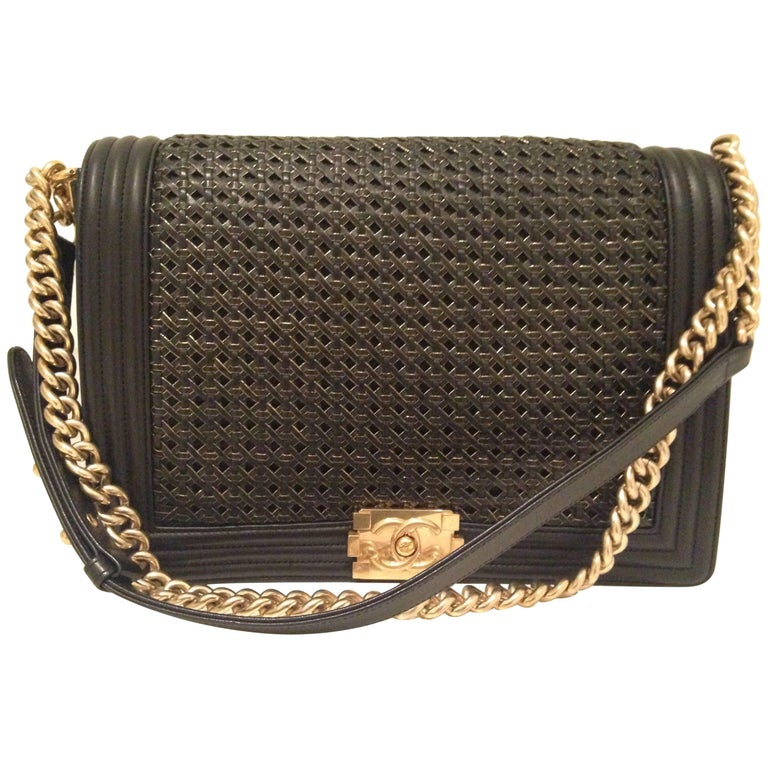 Chanel Limited Edition GM Black and Golden Boy Bag