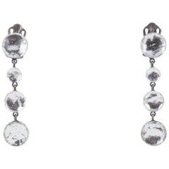 Graduated clear enamel drop earrings, Jacques Gautier, c2000
