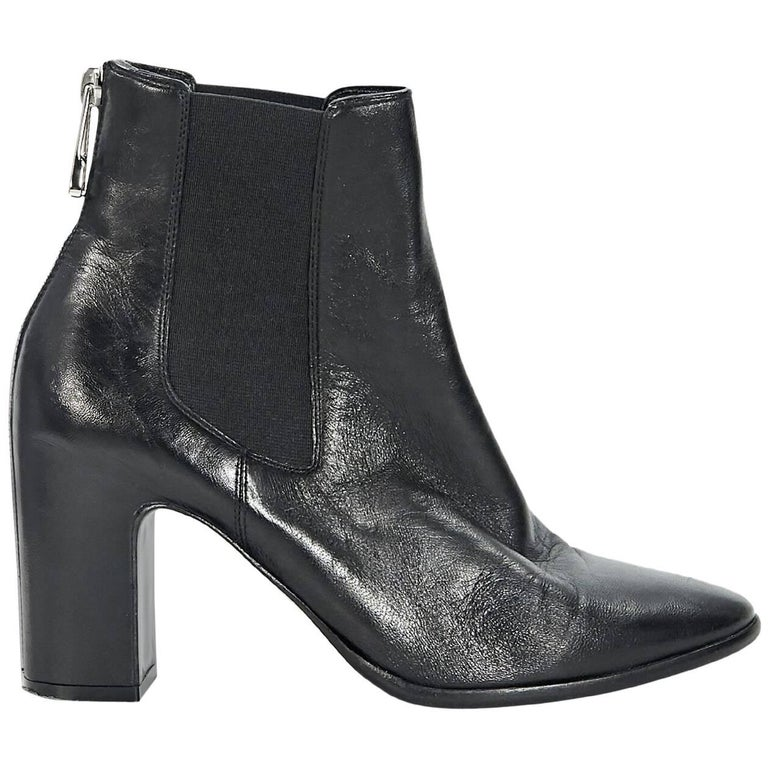 Black Balenciaga Heeled Chelsea Boots