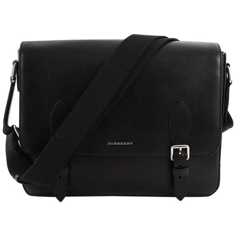 b77602625122 Burberry Hendley Messenger Bag Leather Medium at 1stdibs