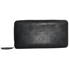 Louis Vuitton Monogram Black Mahina Black Zippy Wallet