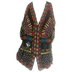 Naeem Khan Riazee Nights multicolored beaded vest