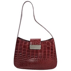 Red Prada Alligator Shoulder Bag