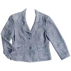 Chanel Blue Linen and Cotton Blazer