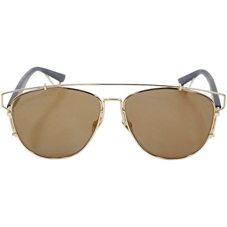 Christian Dior Goldtone Aviator Sunglasses