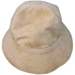 Halston Beige Ultra Faux Suede Hat, circa 1970s