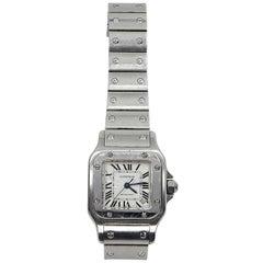 Cartier Stainless Steel Santos Galbee Automatic Wristwatch