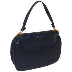 Nettie Rosenstein Navy Pebble Grain Day Bag