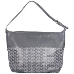 Grey Goyard Printed Leather Shoulder Bag