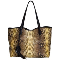 Nancy Gonzalez Python & Caiman Crocodile Erica Shopping Tote Bag