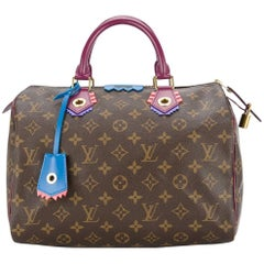 Louis Vuitton Limited Edition Monogram Top Handle Satchel Bag With Lock and Keys