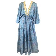 Zandra Rhodes Print Caftan Maxi Dress Vintage