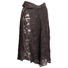 Dries Van Noten Sheer Floral Asymmetric Wrap Skirt
