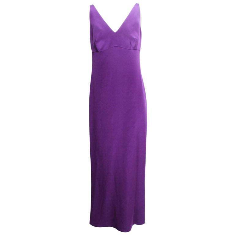 Dolce & Gabbana Amethyst Purple Long Slip Dress