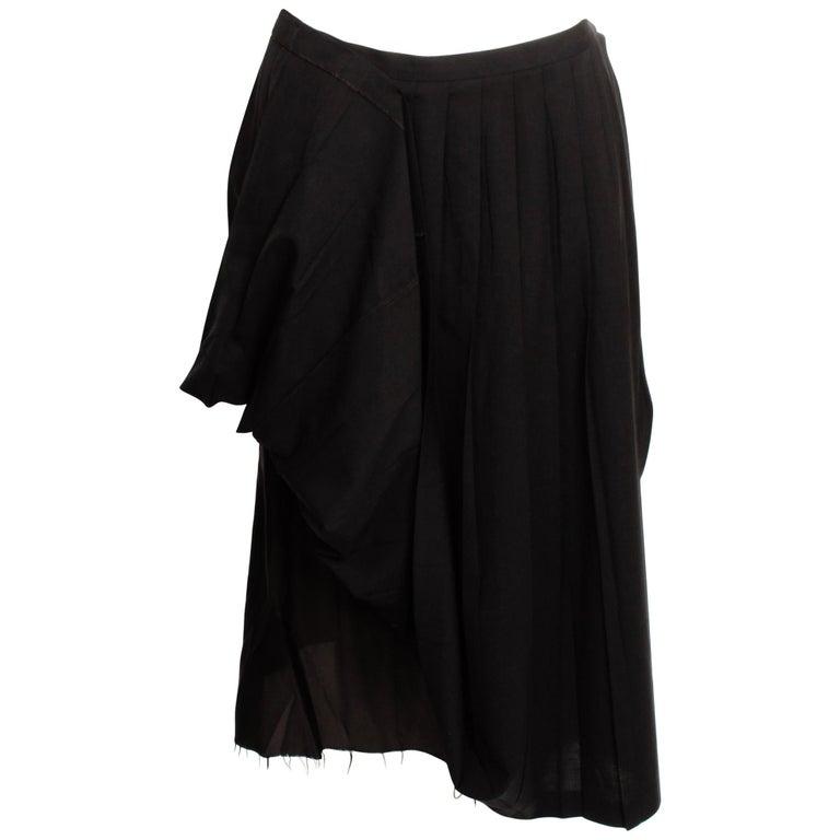Martin Margiela Pleated Deconstructed Skirt For Sale