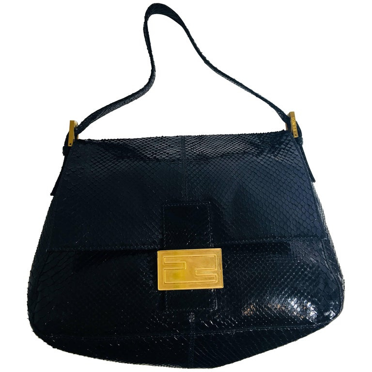 Fendi Black Zucchino Jacquard Shoulder Bag For Sale at 1stdibs c99cc1ccbc849