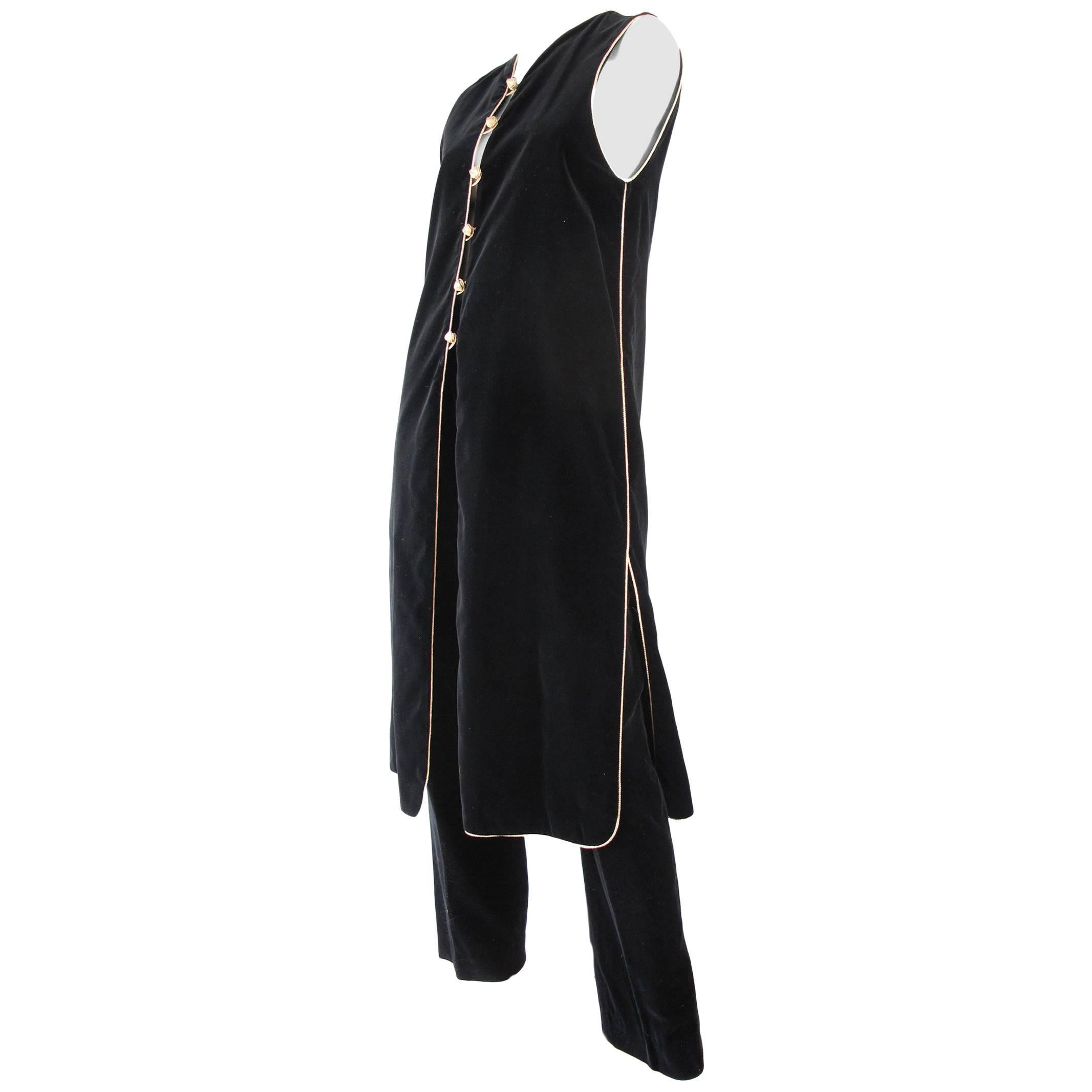 2003d304234a5f Yves Saint Laurent YSL Velvet Vest and Pants For Sale at 1stdibs
